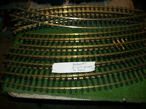 ARISTOCRAFT  WIDE CURVES,  31 INCHES LONG--G SCALE  TRACK ,BRASS
