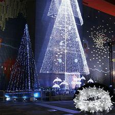 300 LED 30M kaltweiß Innen Außen Xmas Lichterkette Weihnachtsbeleuchtung Deko