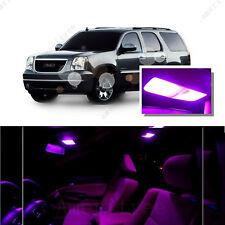 For GMC Yukon 2008-2014 Pink LED Interior Kit + Pink License Light LED