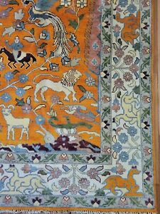 9 x 12 VINTAGE DESIGN CAUCASIAN SERAPI HERIZ ANTIQUE OUSHAK SHIRVAN KAZAK KULA
