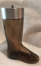 """Vintage Avon Bottle, Brown Glass Boot, Decanter / Bottle """"Collectible"""""""