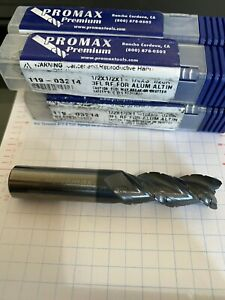 "PROMAX 7//32/"" SOLID CARBIDE ROUGHING END MILLS MILLING ROUGHER NEW LOT 2 PCS"