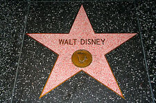 Stampa incorniciata-HOLLYWOOD WALK OF FAME WALT DISNEY Pavimento STAR (PICTURE POSTER ART