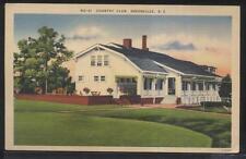 Postcard GREENVILLE South Carolina/SC  Golf Country Club House view 1930's