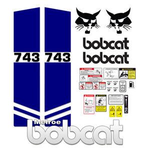 Bobcat 743 Melroe Skid Steer Set Vinyl Decal Sticker 3M - 25 PC