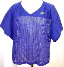 New Reebok Mens L-Xl Royal Blue mesh Football Jersey Athletic top