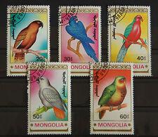 Briefmarken Papageien aus Mongolei von 1990