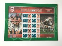 AD202) Australia 2010 St George Dragons NRL Premiers Sheetlet MUH Collectable