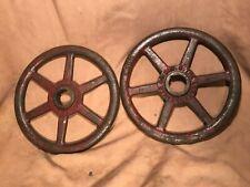 "Pair of 12"" red Lunkenheimer steam gate wheels The lunkenheimer co. Cin . O"