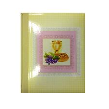 Album foto comunione da bambina con calice uva e pane telato 30 fogli in cartonc