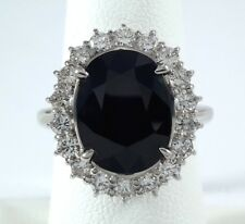 6.25ct Midnight Blue SAPPHIRE on PLATINUM Ring - R9512