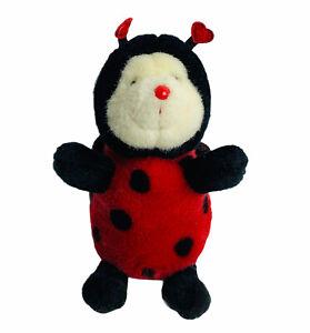"Russ Lovely Ladybugs Plush Red Black Spots Wings Stuffed Animal Toy 7"""