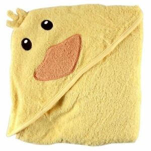 Luvable Friends Animal Face Hooded Towel, Yellow Duck