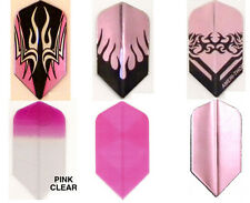 Amerithon Dart Flights- Assortment of 6 Sets  Pink Slim Shape - The Strongest!