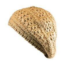 Womens Girl Teen Warm Fall Winter Ski Thick Crochet Soft Knit Beret Packable Hat