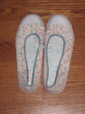 DISNEY SHOPPING MICKEY MOUSE LADIES FLORAL BALLET SHOES SNEAKERS SIZE 9 *NEW*