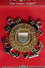 Uscg Coast Guard Full Size E1-6 Enlisted & Petty Officer Combination Cap Badge