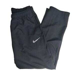 Nike Dri-Fit Woven Training Pants Size Large Windbreaker Black Athletic NEW
