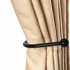 LARGE MODERN BLACK CURTAIN HOLD BACK ~HIGH QUALITY LUXURY~ Metal Tie Holder Hook