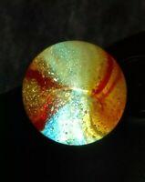 ".60"" BUBBLY Peltier NLR ORANGE SUNSET Vintage Marbles RAINBO Collectible Series"