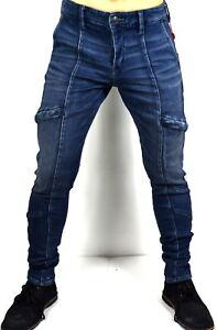 True Religion Brand Jeans $209 Men's Utility Relaxed Skinny Cargo Jeans - 100375