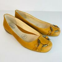 Diana Ferrari Supersoft Leather New In Box Women's Shoes Size 8.5 Beige Flat