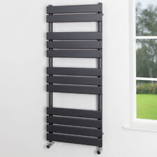 Heated Towel Rail Radiator Bathroom Central Heating Panel Anthracite 1200x500mm
