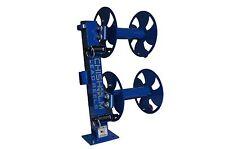 """12"""" BLUE Heavy-Duty FIXED-BASE Double Welding Cable Lead Reel"""