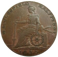 1790 GREAT BRITAIN 1/2 PENNY CHESHIRE MACCLESFIELD CHARLES ROE COPPER TOKEN