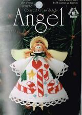 Clothespin Angel Ornament with Candy Canes on Dress Counted Cross Stitch Kit NEW
