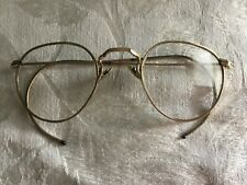 Antique Vtg 1/10 12kt Gold Filled Hibo Wire Round Eyeglasses Frames