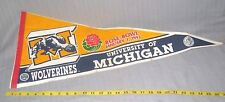 1992 Rose Bowl Football Game Michigan Wolverines  Pennant (New Years Day Pennent