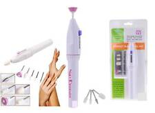 NAIL DECORATOR PERFECT NAILS MANICURE ELECTRIC FILE TOOL KIT 5IN1 **BRAND NEW**