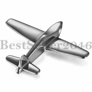 Fashion Smooth Airplane Plane Model Stainless Steel Pendant Mens Necklace Chain