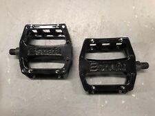 NOS Black Snafu BMX Alloy Platform Pedals 1/2 for One Piece Cranks GT Dyno Haro
