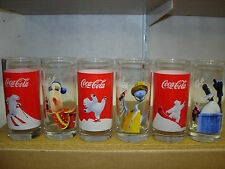 6 verres coca cola 3 ours + 3 happiness factory