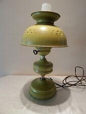 Vintage Green Metal Tole Table/Desk Lamp