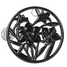 Black Cast Iron Round Flowers Trivet Hot Pot Pan Stand Kitchen Worktop Protector