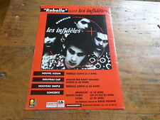 LES INFIDELES - Publicité de magazine / Advert REBELLE !!!!!!!!!!!