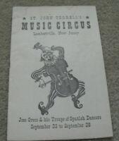 Vintage 1930s Booklet Program St. John Terrell's Music Circus Lambertville NJ