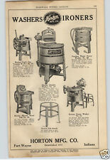 1924 PAPER AD Horton Wood Wooden Washing Machine Water Power Motor Miracle