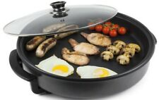 Multi Cooker Electric Frying Pan Steamer Cooking Casserole Cook Pot w/ Lid 30cm