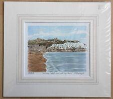 The White Cliffs Of Dover Dover Castle Print Philip Glyn Martin Signed Ltd Editi
