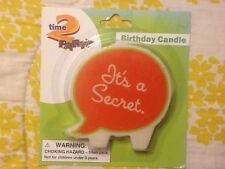 NEW It's A Secret Birthday Party Cake Candle ( Guess My Age) ( Not Telling)??