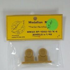 Medallion Models 1/48th Scale Resin Wheels for Bf-109G-10/K4 Item No. MM22