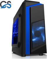 ULTRA FAST Gaming PC Core i3 8GB RAM 500GB HDD Windows 10 2GB GT 1030 Black/Blue