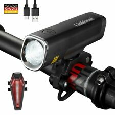 Bike Light Set 40Lux USB Rechargeable Ultra-Compact Side Light CREE Led Bicycle