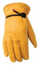 Leather Work Gloves Ball Tape Wrist Closure Grain Cowhide XX Large  1132XX