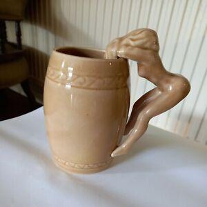 Vintage Japan Mid Century Mug - Risque Woman Handle
