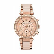 Michael Kors Ladies Parker Chronograph Two-Tone Rose Gold Watch MK5896